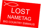 Big Country Emmaus Community Nametag